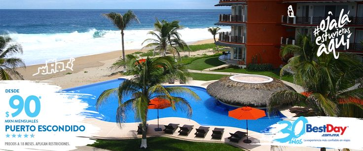 Vivo Resorts en Puerto Escondido esta Ubicada en la primera línea de playa en él disfrutarás lujosos condominios totalmente equipados con sala de estar, comedor, cocina y terraza con vista al mar. También dispone de una piscina de borde infinito, tienda de abarrotes y centro de lavado dentro de la habitación. #OjalaEstuvierasAqui #BestDay