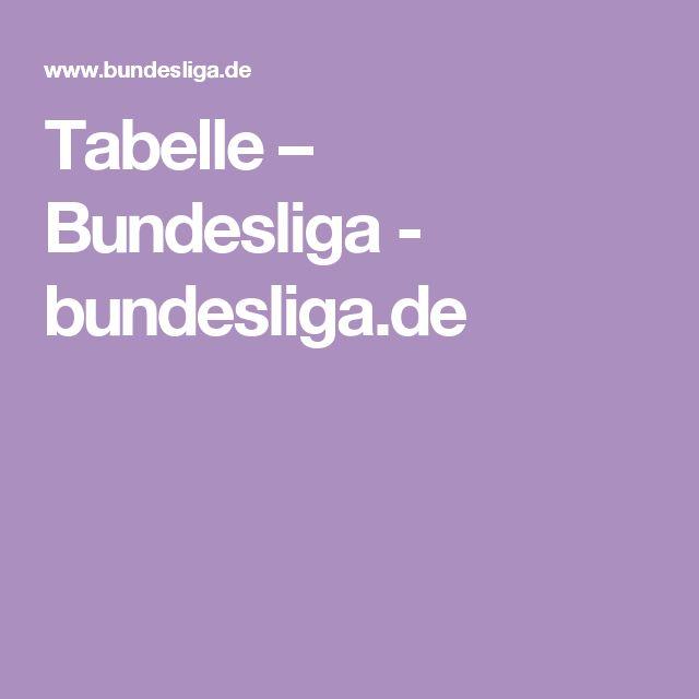 Tabelle – Bundesliga - bundesliga.de