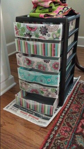 Moge Poge Fabric And Two Sterilite Drawers I Bought