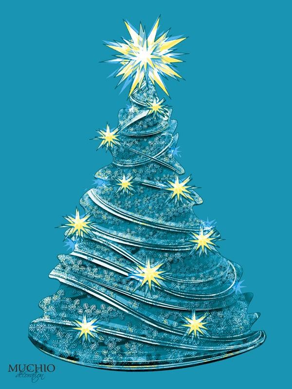 #christmas tree #homedesign on blue from http://muchio.com