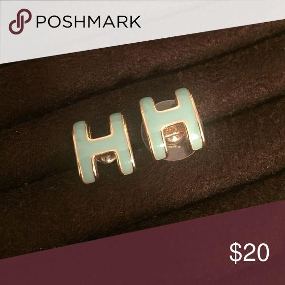 H initial earrings H - does not include backs Jewelry Earrings