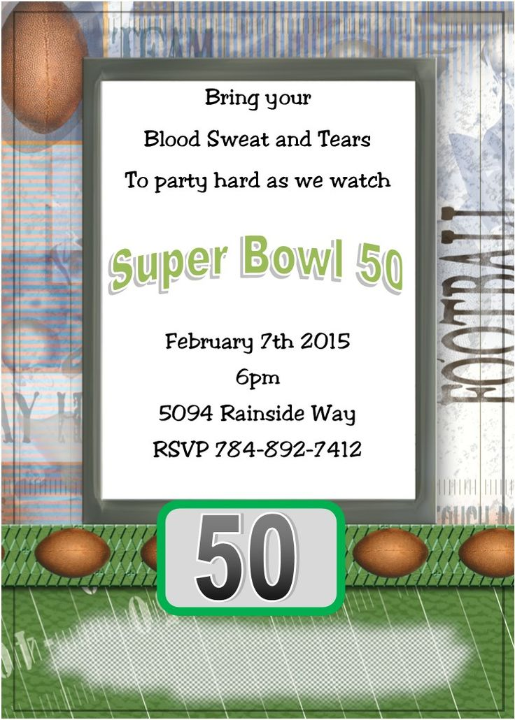 55 best Super Bowl Party Invitations images – Super Bowl Party Invite