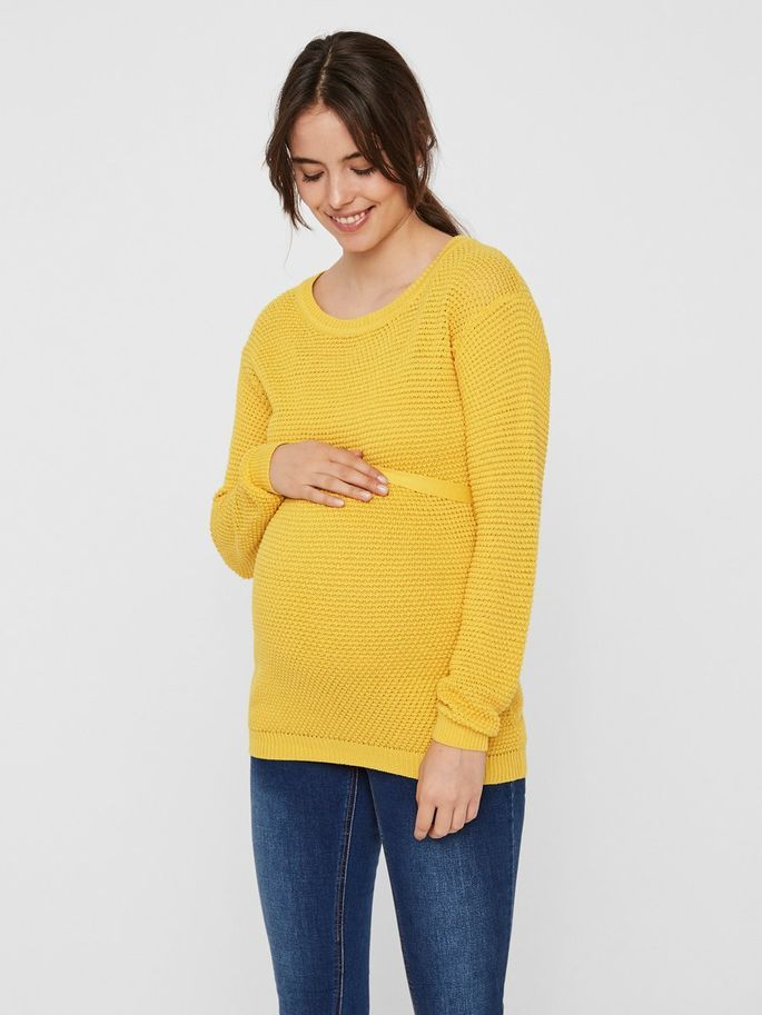 1b4b0d2d24043 Knit maternity blouse | MAMALICIOUS | 2019FW in 2019 | Maternity ...
