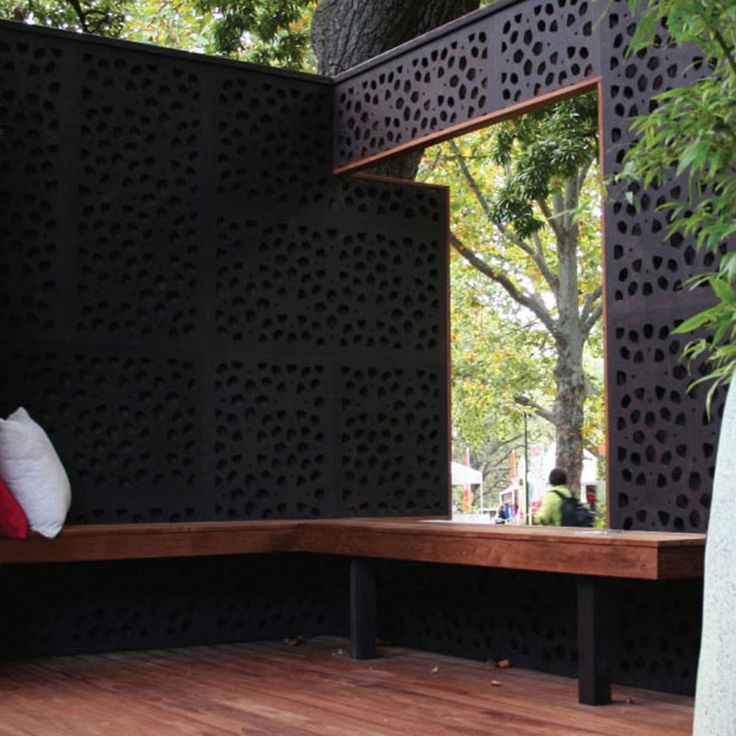 Marakesh Design  1200 mm(H) x 600 mm(W) Panels.  80% Privacy/ Blockout. Available at Chippy's Outdoor
