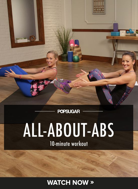 Get ready to bare your abs with this workout video —it's only 10 minutes, but it is all abs.