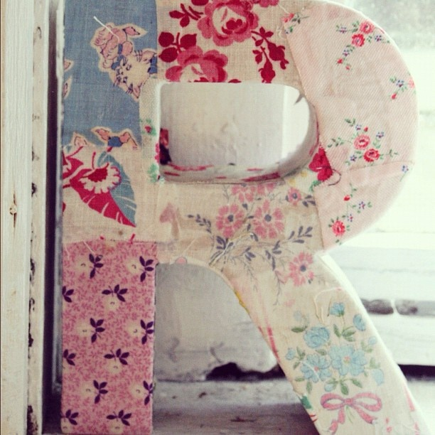 DIY:  Fabric covered letter