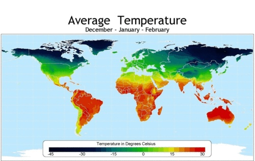average temperatures by season world map stagioni pinterest