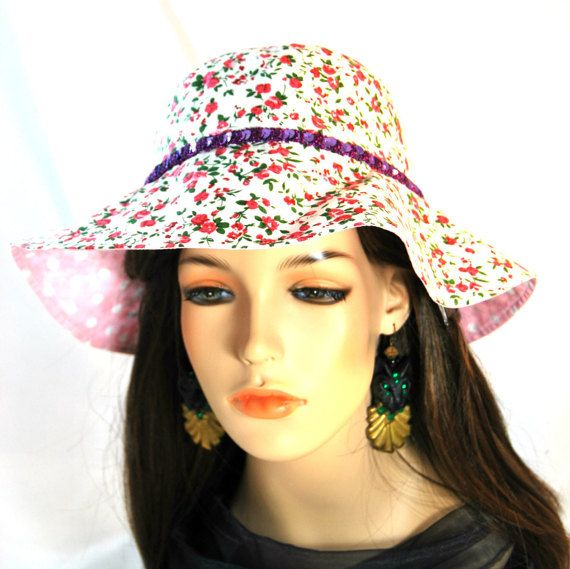 Girl's Flower Sunhat with Purple Sequin band