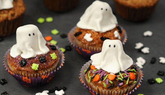 """Cupcakes """"Fantasma"""" de Zanahoria"""