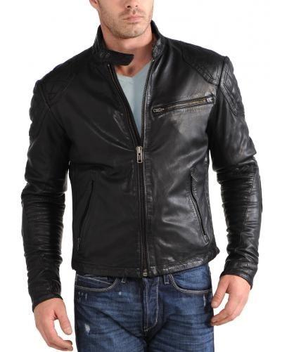 Blouson cuir lav giorgio vue de face style inspiration pinterest visages - Laver une veste en cuir ...