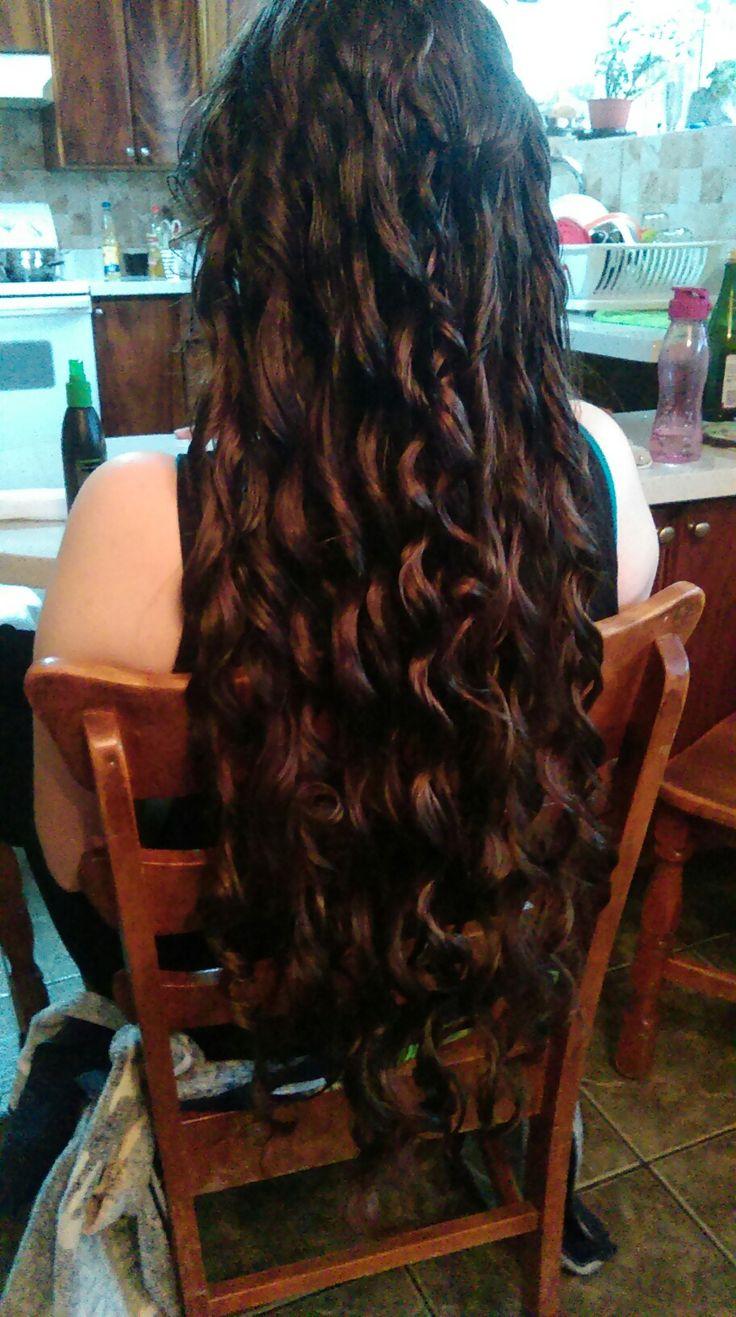 Diy paper towel heatless curls