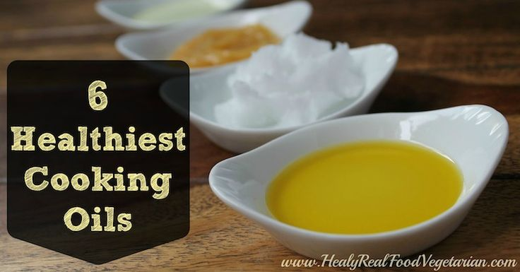 I often get asked which are the healthiest cooking oils for a vegetarian or vegan.