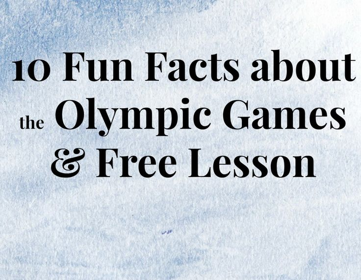 Fun Facts about the Olympic Games
