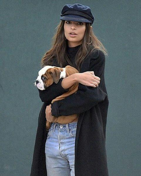 "emsratajkowski: "" ""emrata: Ya know…just carrying other people's puppies around NYC"" """