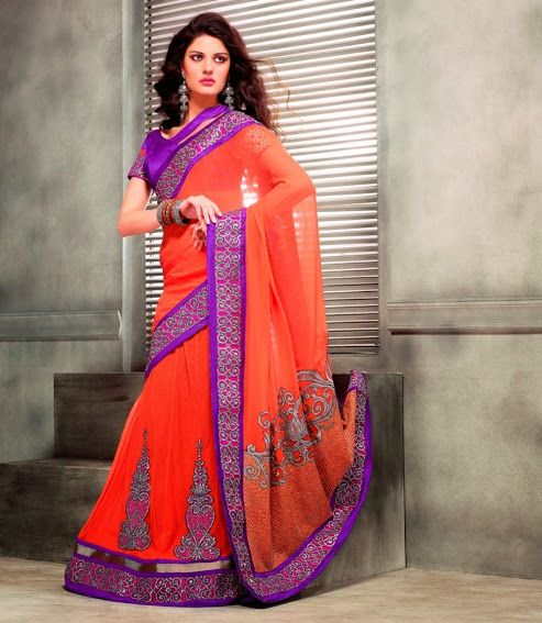 2319.  Cultural Georgette Saree   INR 4700/-