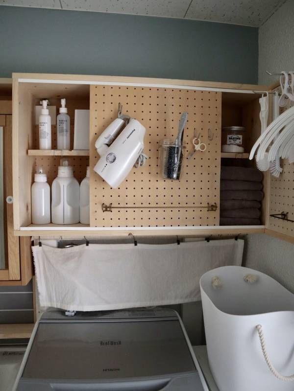 賃貸の洗面所diy ビフォーアフター 収納 Diy 洗面所 おしゃれ