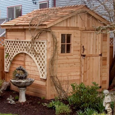 Best Shed With Trellis Wood Storage Sheds Wooden Storage 400 x 300