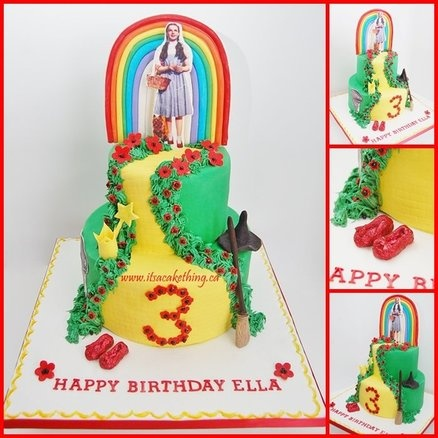 17 Best Images About Wizard Of Oz Yellow Brick Road Cake