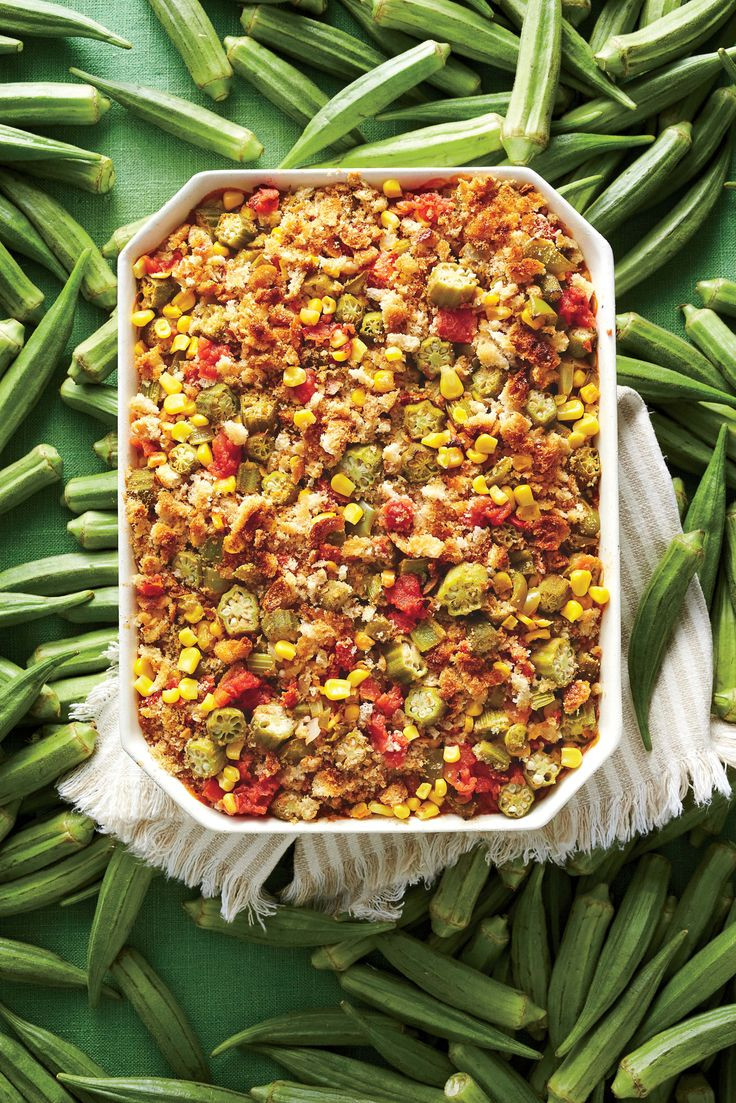 Okra and Rice Casserole | MyRecipes                                                                                                                                                                                 More