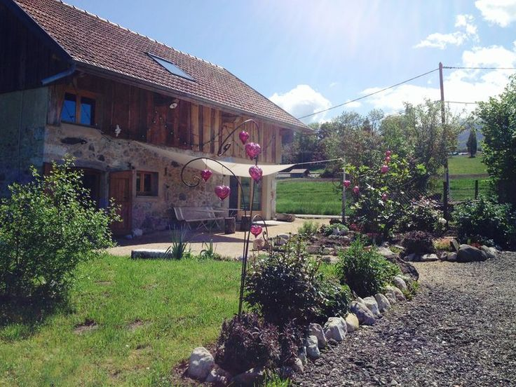 The glass-blowing studio, a beautifully restored barn, nestled in the mountains of Gresy-sur-Aix