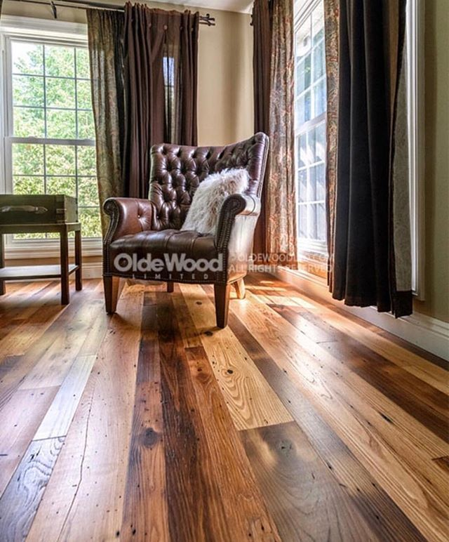 Our Reclaimed Wormy Chestnut Floors Are Classy And Timeless