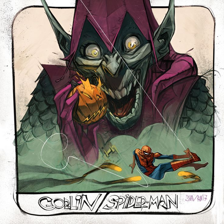 ArtStation - Fan art - Goblin / Spiderman.#SHAVRIN , Ivan Shavrin