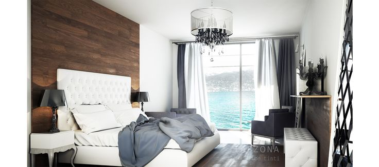 hotel albergo camera letto bedroom Interior design bed chair lamp wood white room brescia