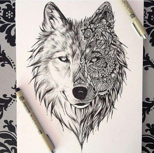 Wolf art. Tattoo idea