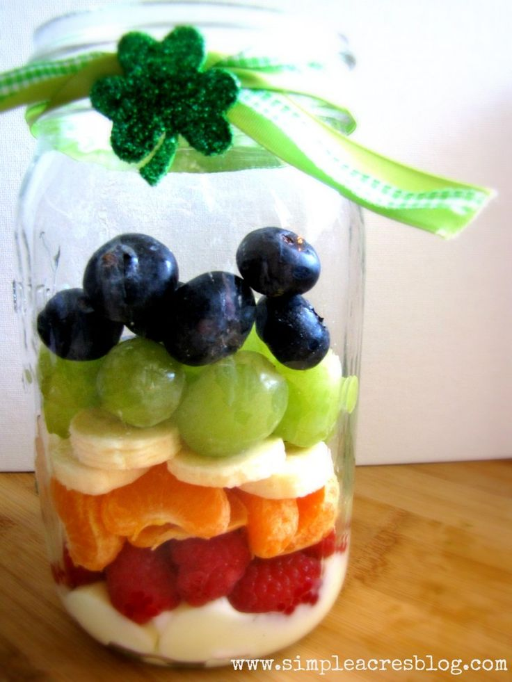 A delicious rainbow parfait that is healthy and fun for the whole family! | Simple Acres Blog