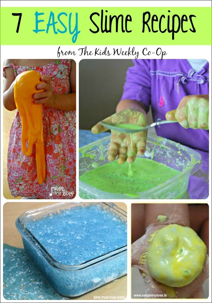 7 Easy Slime Recipes - Try these Slime Recipes with your child and let the slimy sensory fun begin!