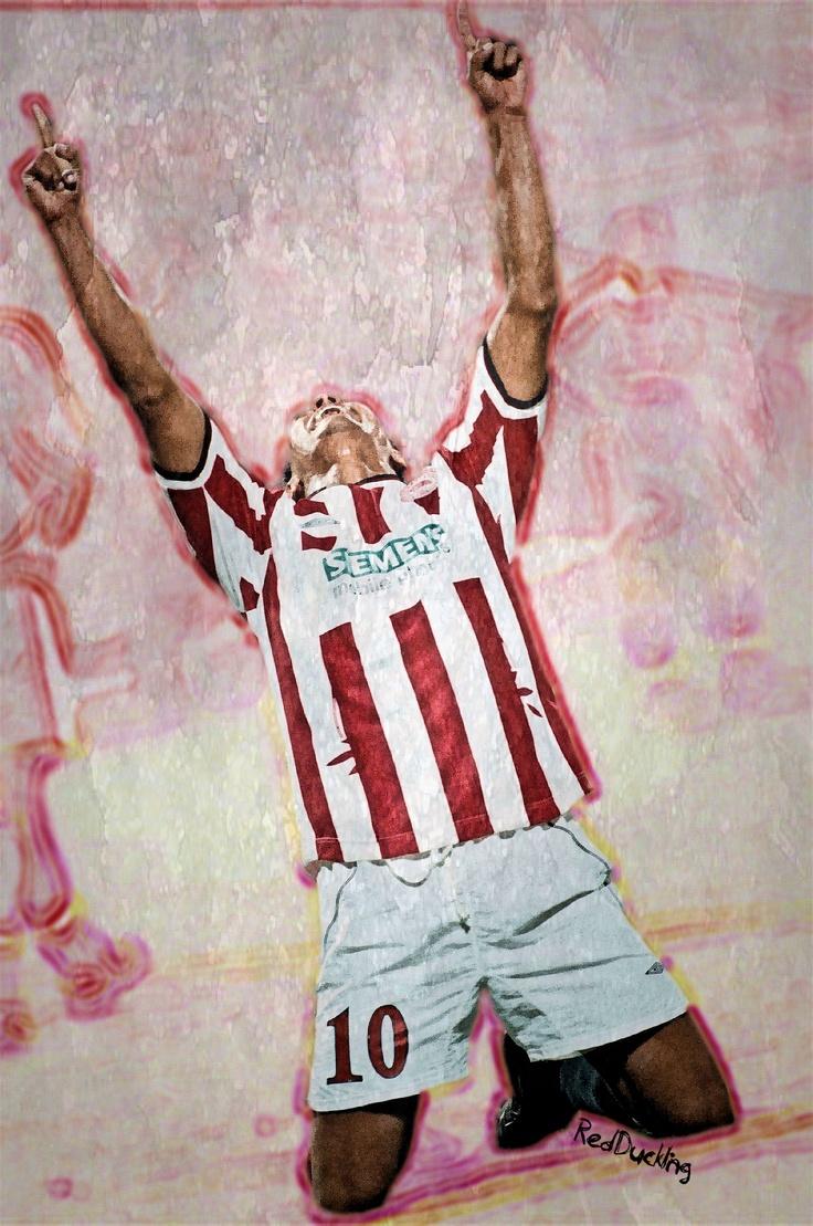 """Giovanni"" Giovanni Silva de Oliveira, born 4 February 1972, Brazilian attacking midfielder or forward (Olympiacos FC, 1999–2005, 129 apps, 61 goals)."