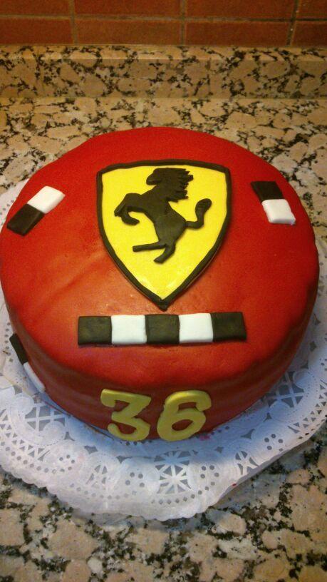 Tarta Escudo Ferrari