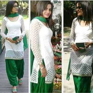 Green and white amazing suit