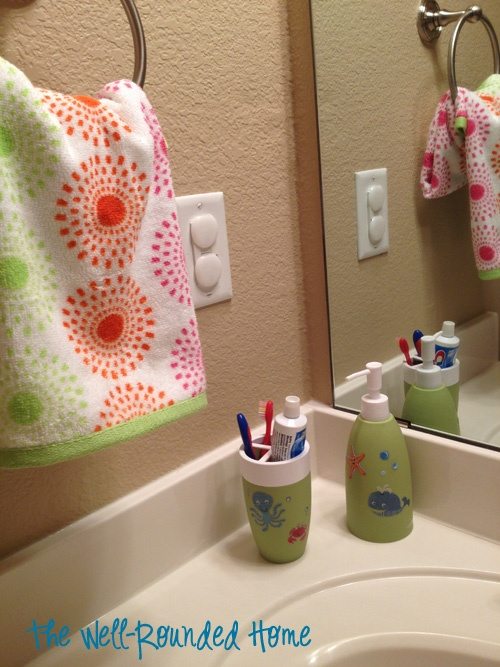 cute patterns and like the separate slots for toothbrushes.