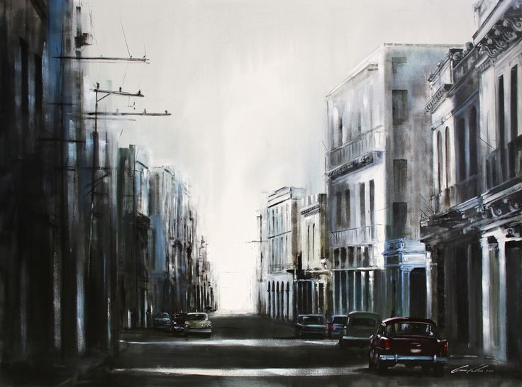 "Gavin Collins Paintings Title: ""In the Shadows of Cuba"" Size: 2m x 1,5m"