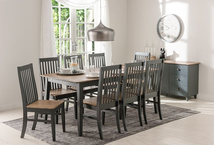 Maine Dining Table and Chairs in Black