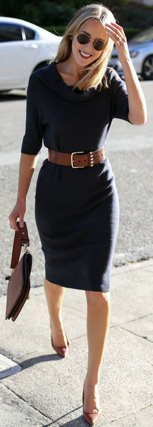 #fall #trending #outfits |  Midi off The Shoulder Sweater Dress