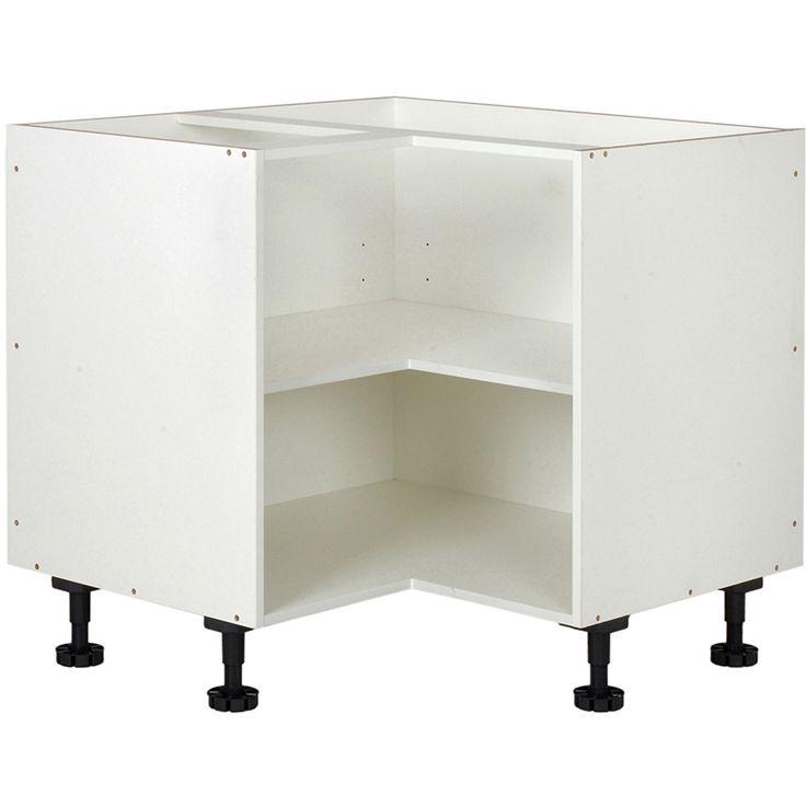 kaboodle kitset 900x900mm base corner white bunnings warehouse corner base cabinet base on kaboodle kitchen bunnings drawers id=81806