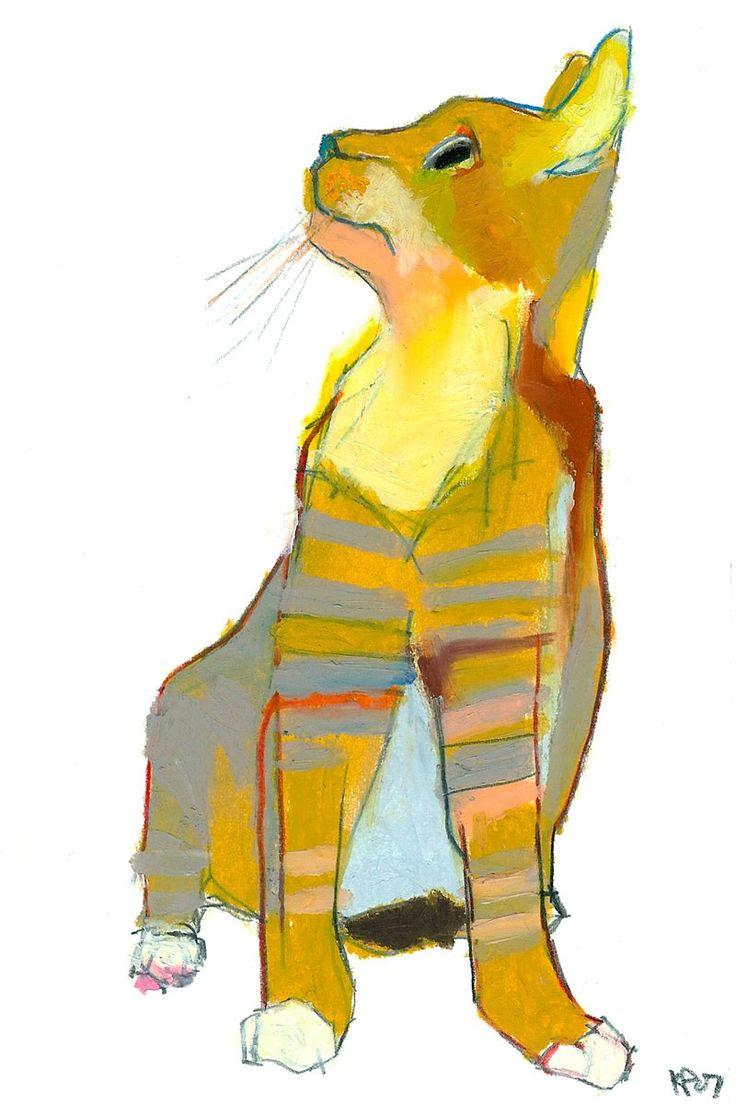 En el principio, Dios creó al hombre, y al verlo tan frágil, creó al gato.  Warren Eckstein