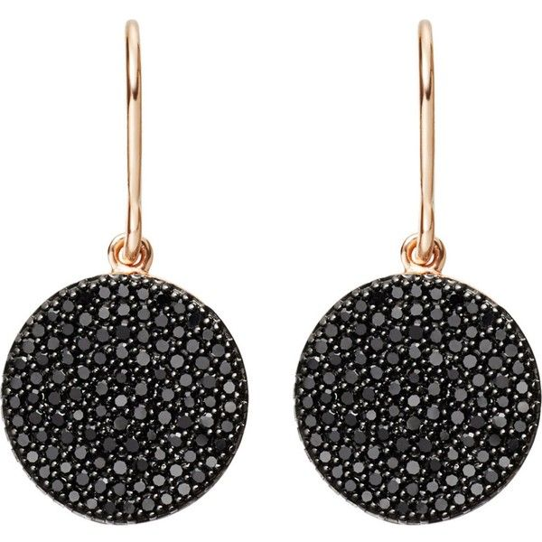 ASTLEY CLARKE Icon 14ct rose-gold and black diamond earrings ($1,290) ❤ liked on Polyvore featuring jewelry, earrings, accessories, brinco, astley clarke, diamond jewelry, gold black diamond earrings, diamond earrings and diamond earring jewelry