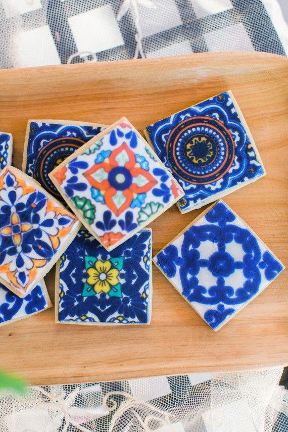 5 de mayo inspiration. Tile sugar cookies #cincodemayo