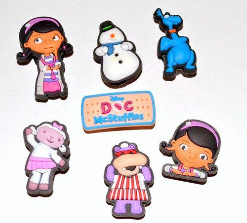 Girls Doctor McStuffins Shoe Charms or Zipper Pulls (Set of 7)