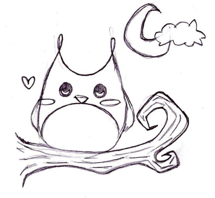 Best 25 drawings of owls ideas on pinterest for Cartoon owl sketch