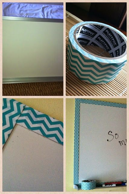 Cute duct tape around your classroom white board!