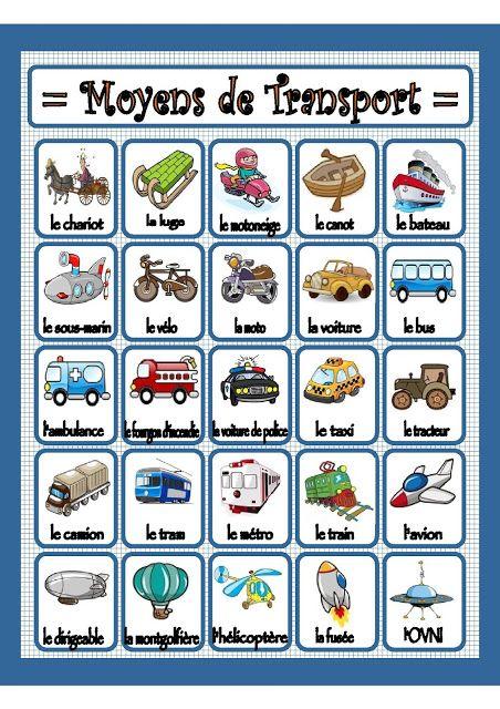 Affiches moyens de transport