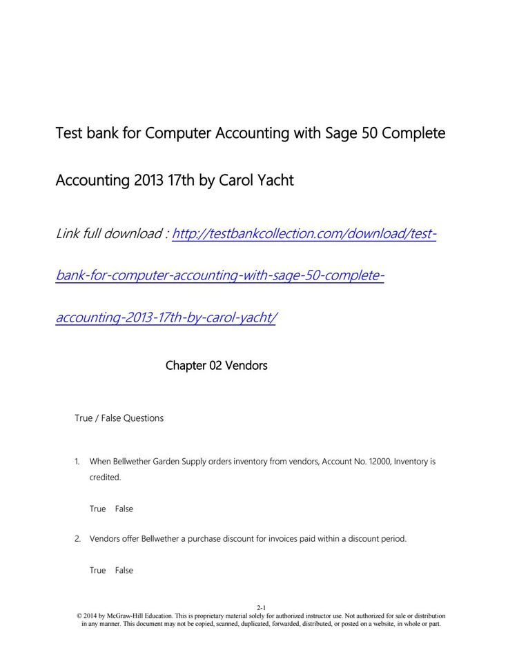 Best 25 sage 50 ideas on pinterest sage accounting sage test bank for computer accounting with sage 50 complete accounting 2013 17th by carol yacht fandeluxe Choice Image