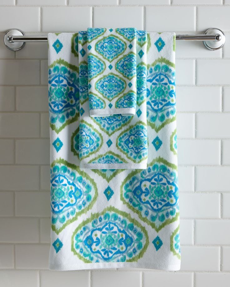 Best Towels Bath Towels Washcloths Images On Pinterest - Blue patterned towels for small bathroom ideas