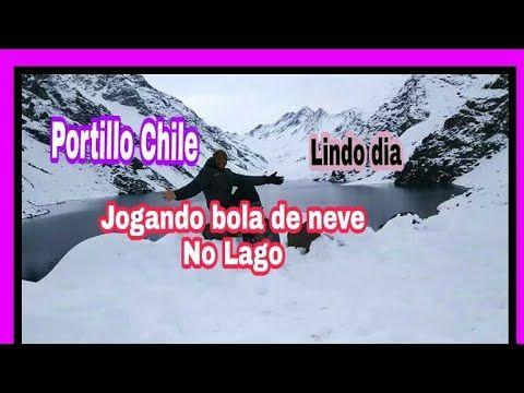 Portillo chile - Jogando bola de neve no Lago