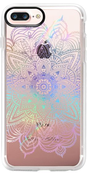 Casetify iPhone 7 Plus Case and iPhone 7 Cases. Other Rainbow iPhone Covers - Rainbow Holograpghic Mandala by Mandalamaze | Casetify