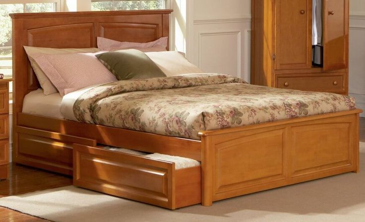 17 best images about beds with storage on pinterest ana for Queen bed with bed underneath